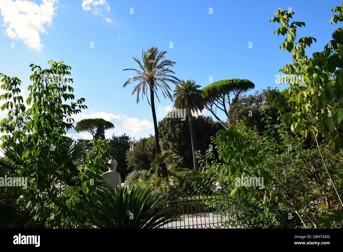 Balconata del Pincio in Villa Borghese in the city of Rome, Italy Stock Photo