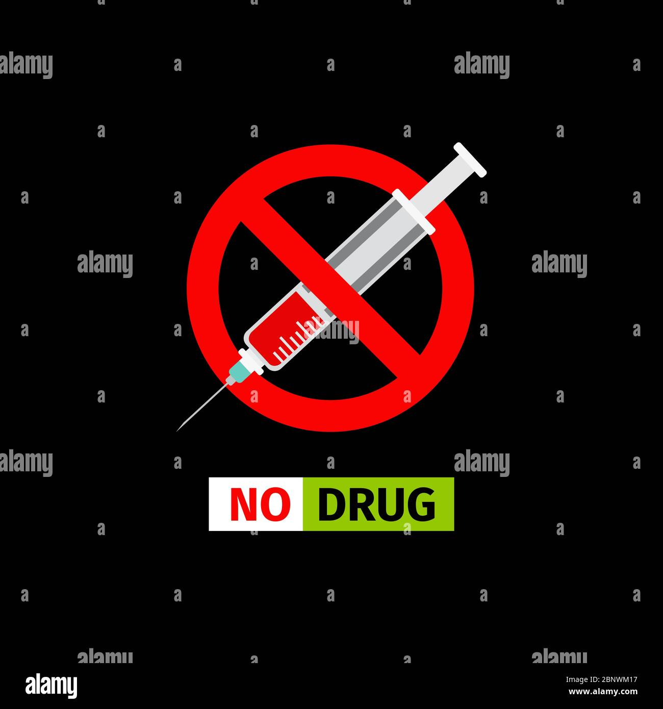 vector forbidding sign on the black background no drugs stock vector image art alamy https www alamy com vector forbidding sign on the black background no drugs image357679651 html