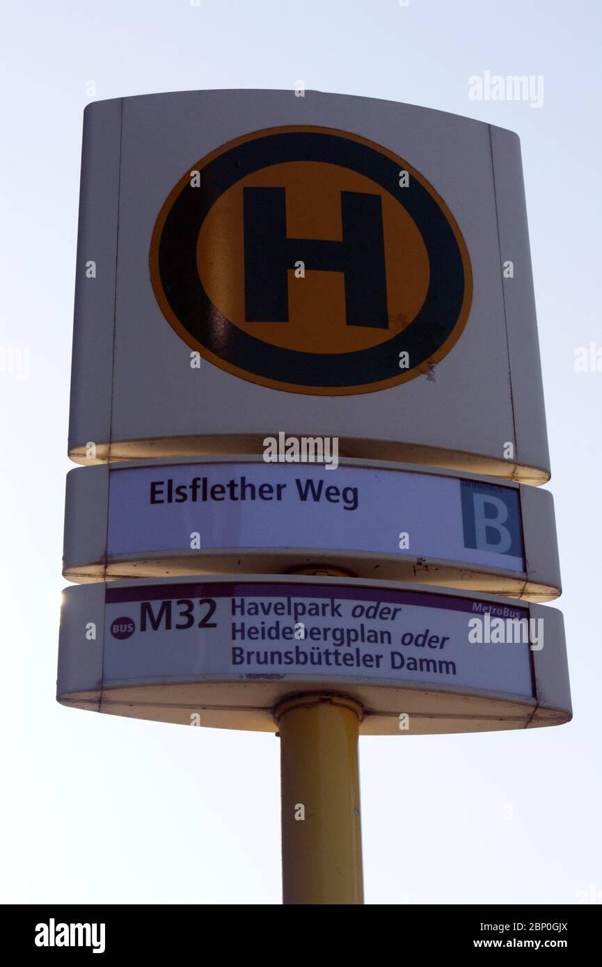 Haltestelle in Berlin. Stock Photo