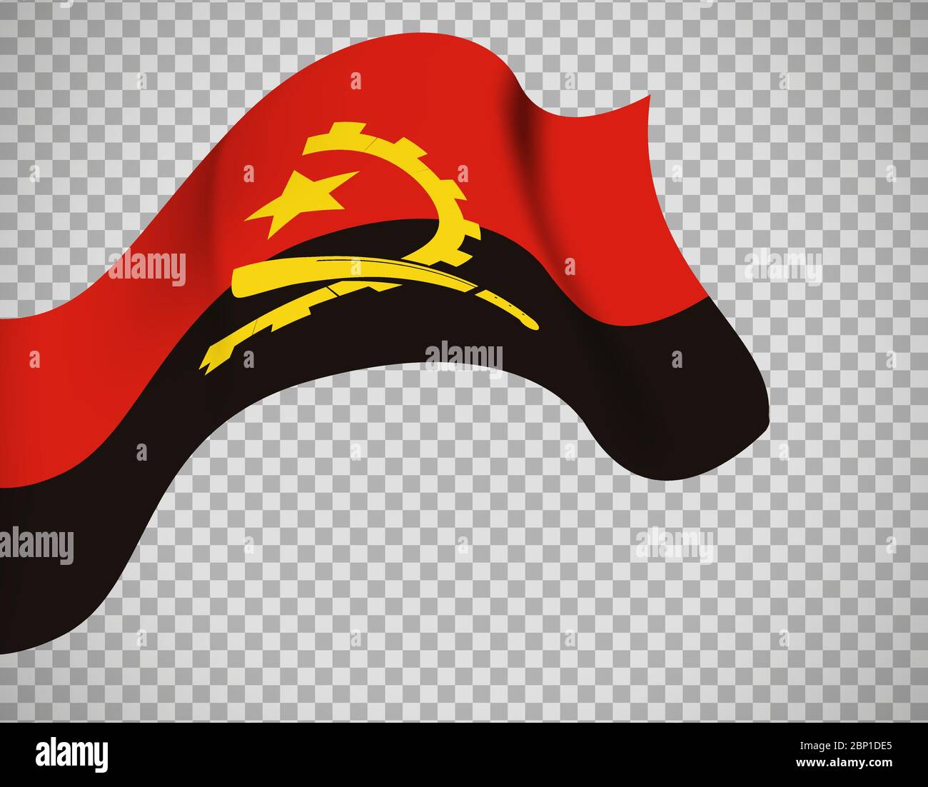 Angola flag icon on transparent background. Vector illustration Stock Vector