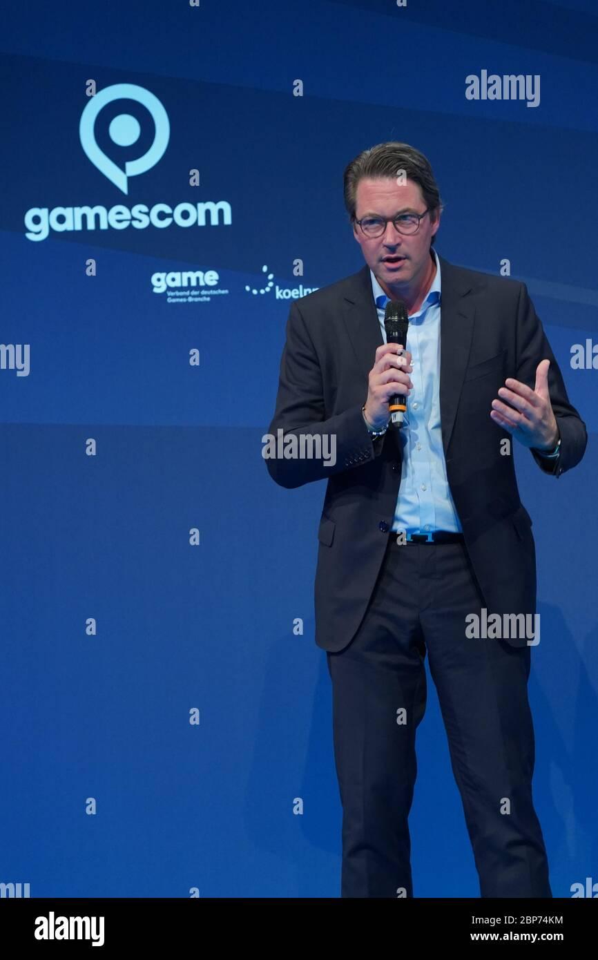 Eroeffnung der Computerspielemesse 'Gamescom 2019' in der Messe Koeln Stock Photo