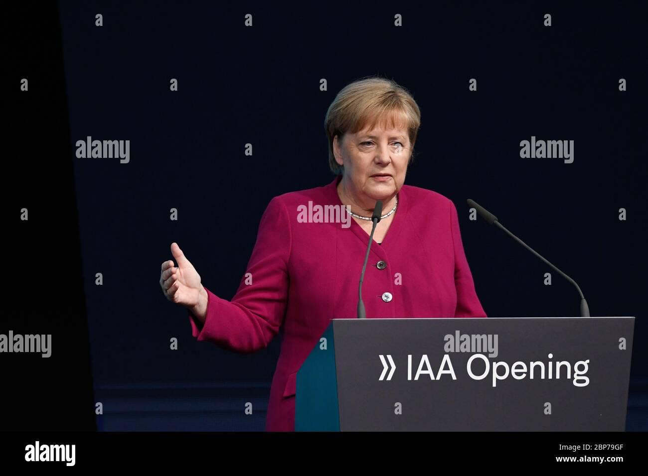 Eroeffnung der Internationalen Automobil-Ausstellung IAA 2019 auf dem Messegelaende Frankfurt am Main am 12.09.2019 Stock Photo