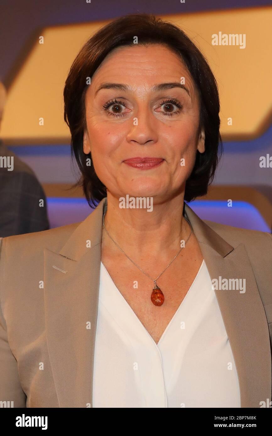 Sandra Maischberger,Maischberger,WDR Studio B3,Koeln,04.12.2019 Stock Photo