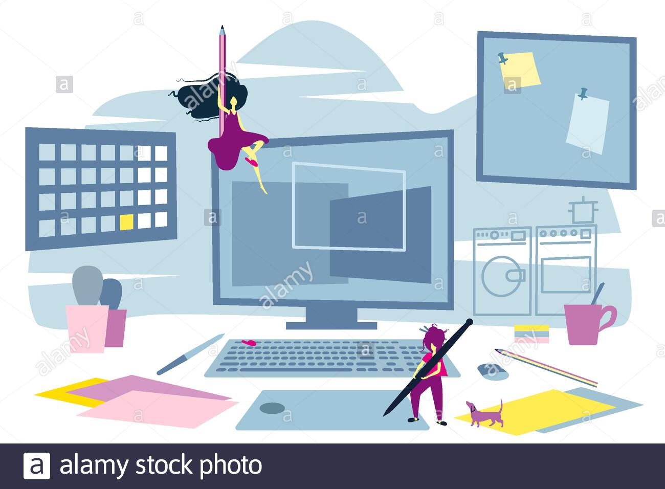 Large Desktop Computer High Resolution Stock Photography And Images Alamy