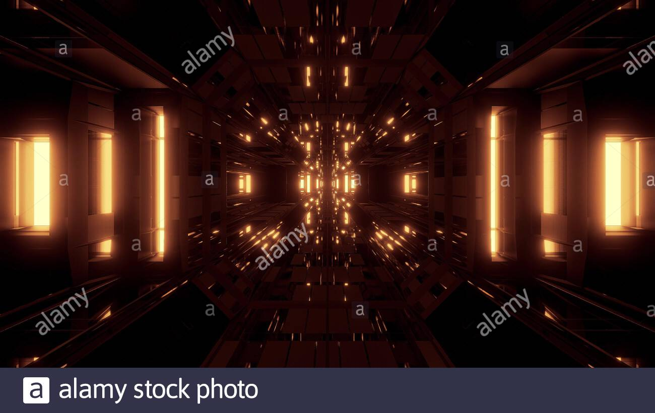 beautiful futuristic scifi space ship tunnel background 3d illustration 3d rendering futuristic modern star ship hangar corridor wallpaper seamless l stock photo alamy alamy