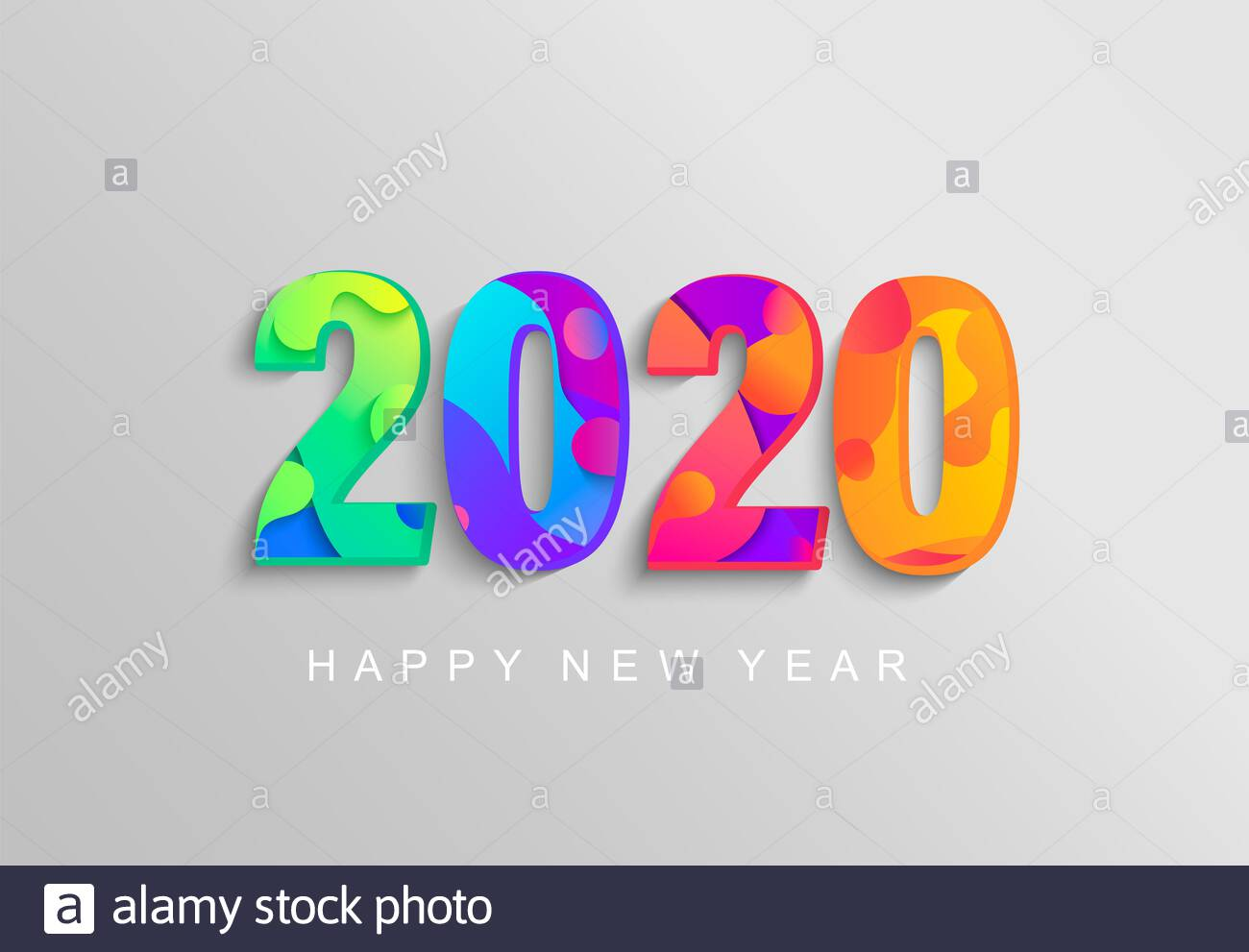 2020 New Year banner,logo,coloured emblem for your seasonal