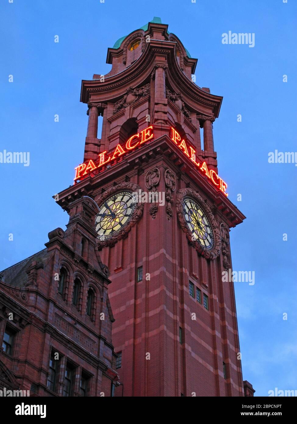 The Palace Hotel, ex-Refuge Insurance building, Oxford Road, Manchester, Lancashire, England,UK, M60 7HA Stock Photo