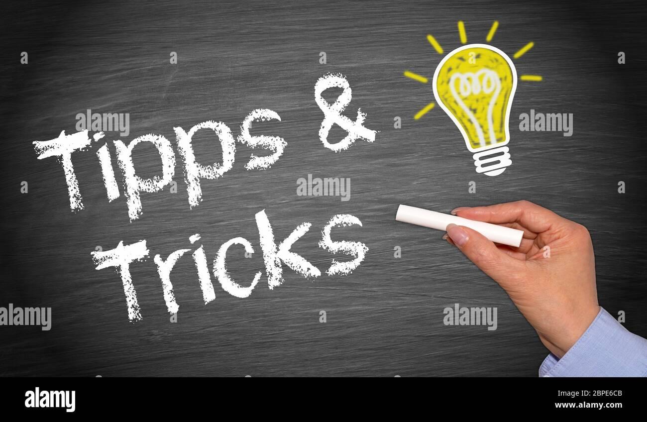 Tipps und Tricks Stock Photo