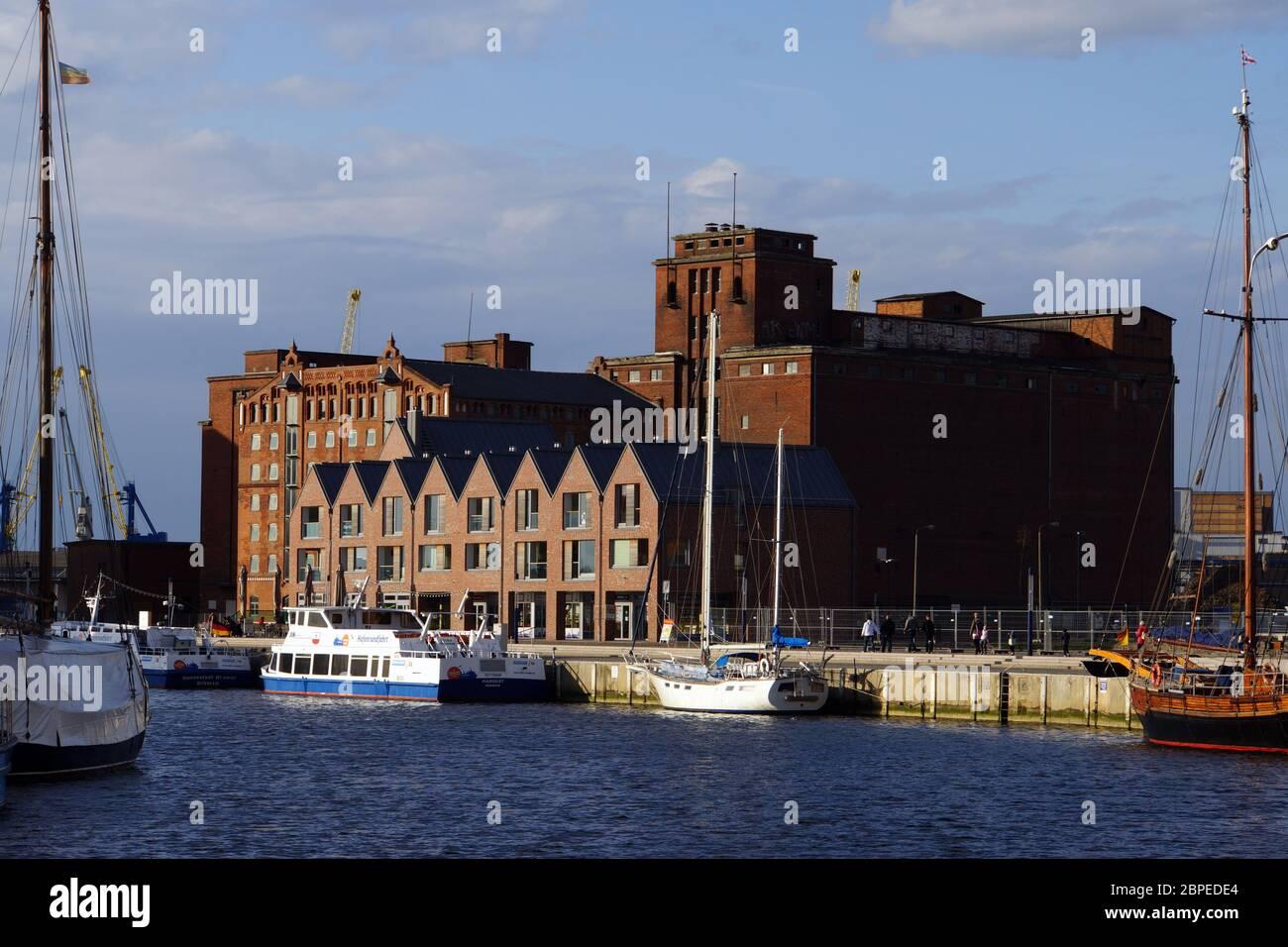 alter Hafen Wismar, Mecklenburg-Vorpommern, Deutschland Stock Photo