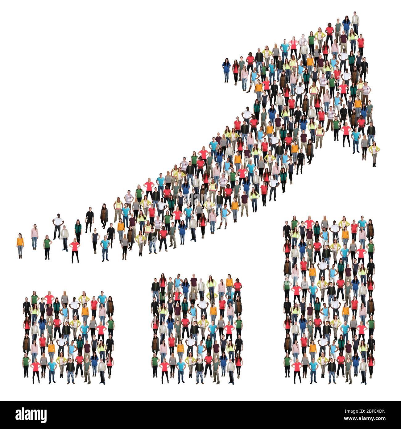 Menschen Gruppe Leute Menschengruppe Erfolg Wirtschaft Wachstum erfolgreich Diagramm Business Gewinn Stock Photo