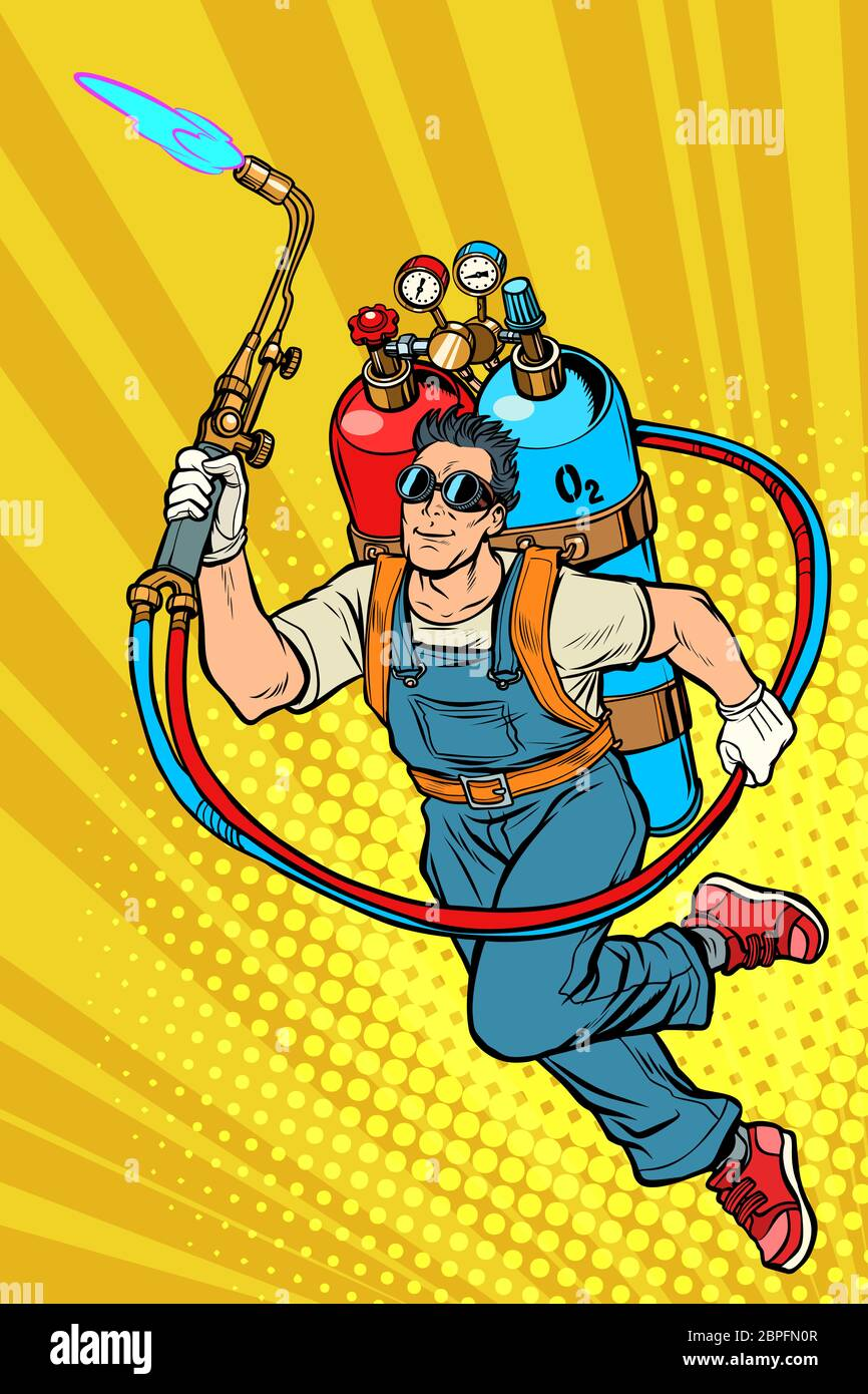Welder Vector Cartoon Illustration High Resolution Stock Photography And Images Alamy