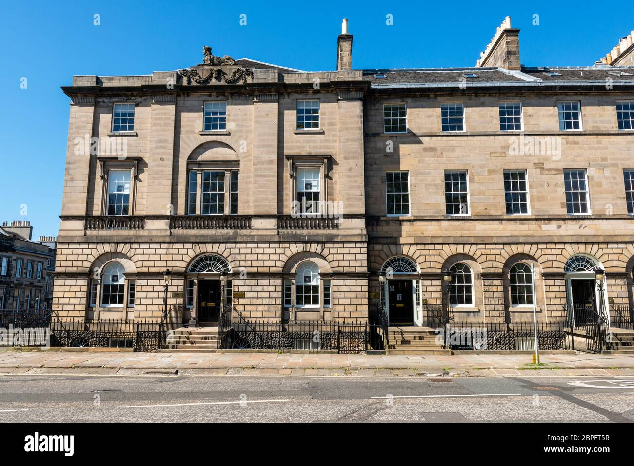 Georgian Townhouse on north side of Charlotte Square, Edinburgh New Town, Scotland, UK Stock Photo