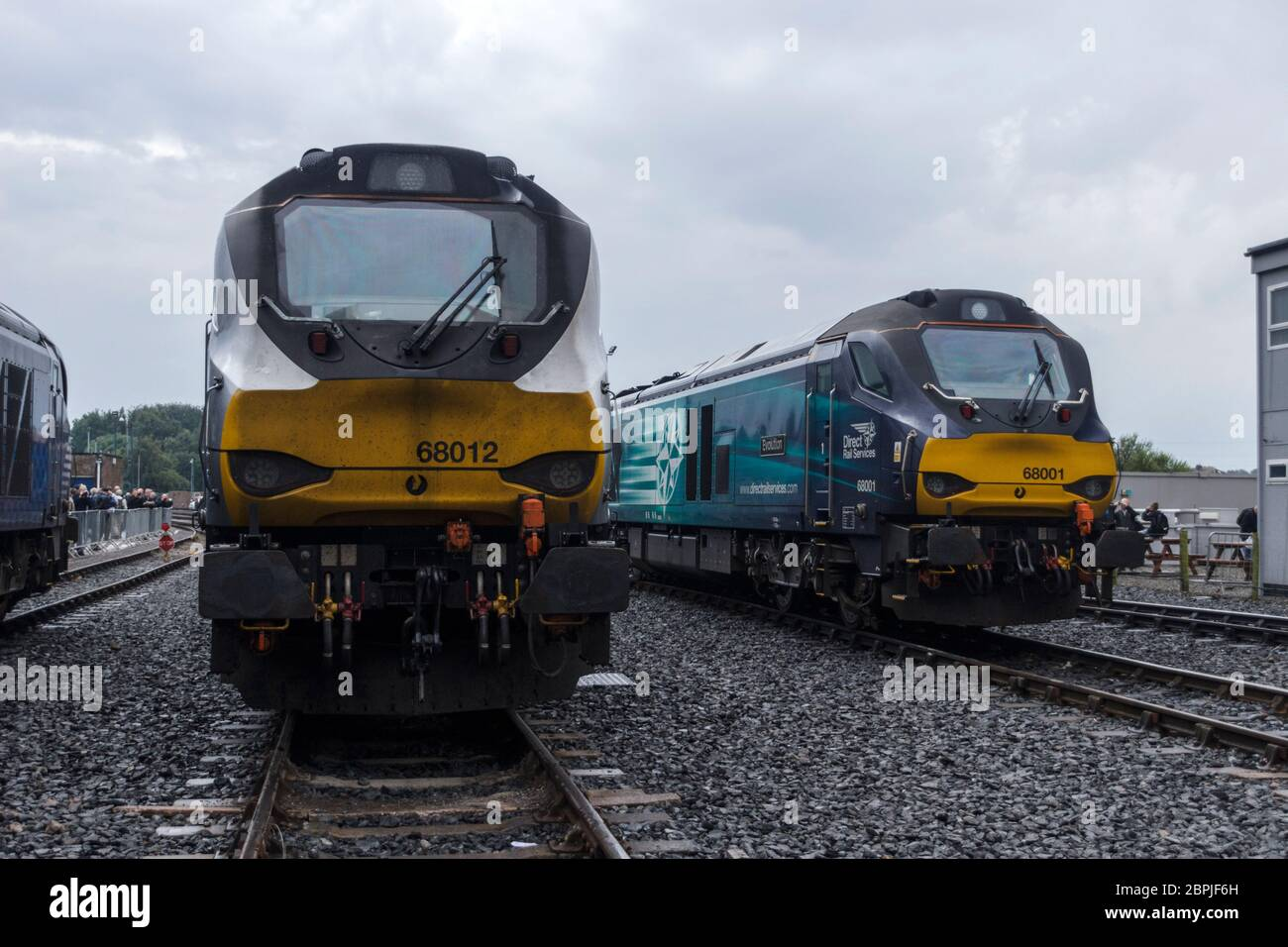 68012 stabled with 68001 at the Direct Rail Services Open Day at Carlisle in 2017. Stock Photo
