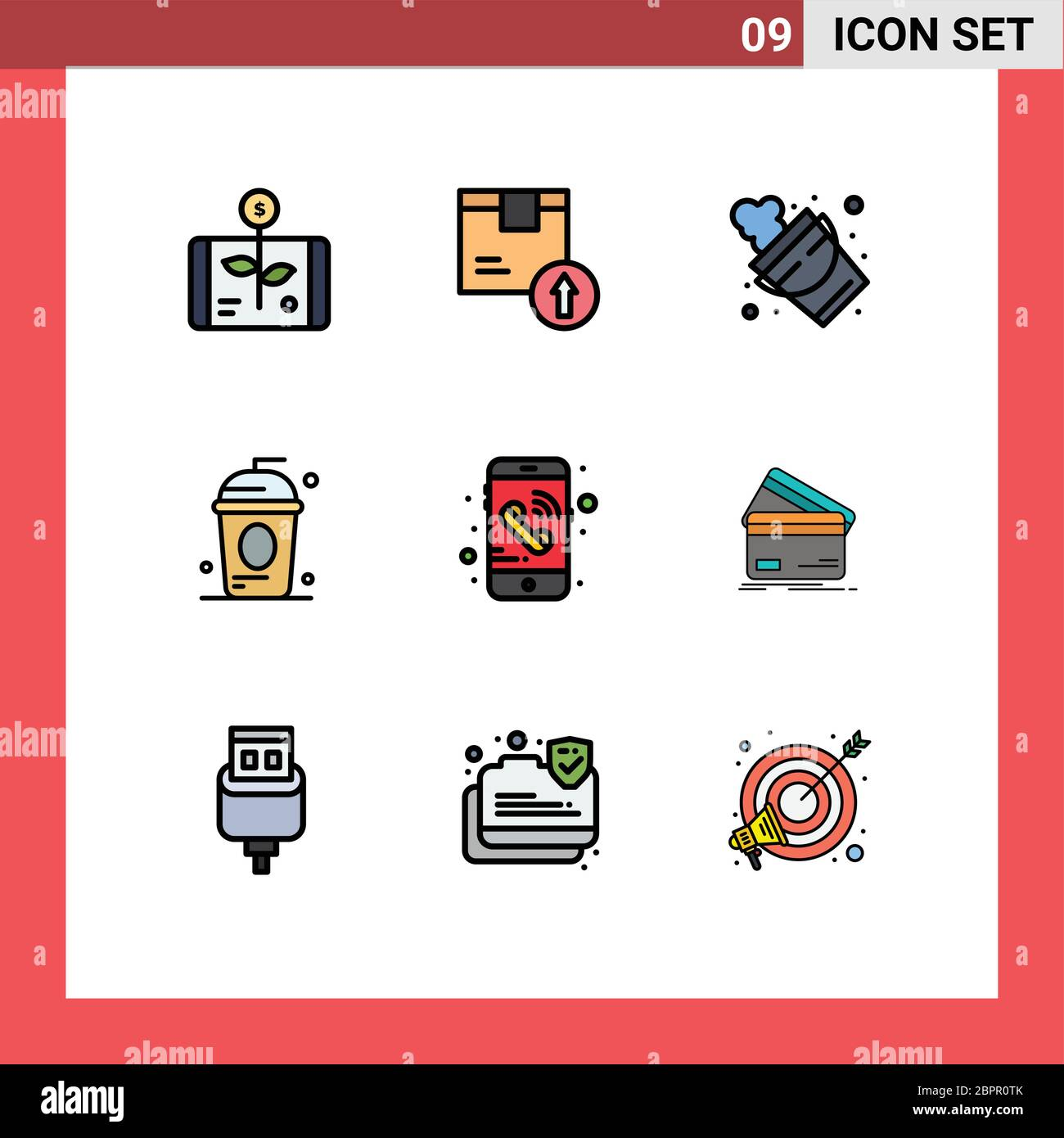 9 Creative Icons Modern Signs and Symbols of holiday, cole, logistic, cake, firefighter Editable Vector Design Elements Stock Vector