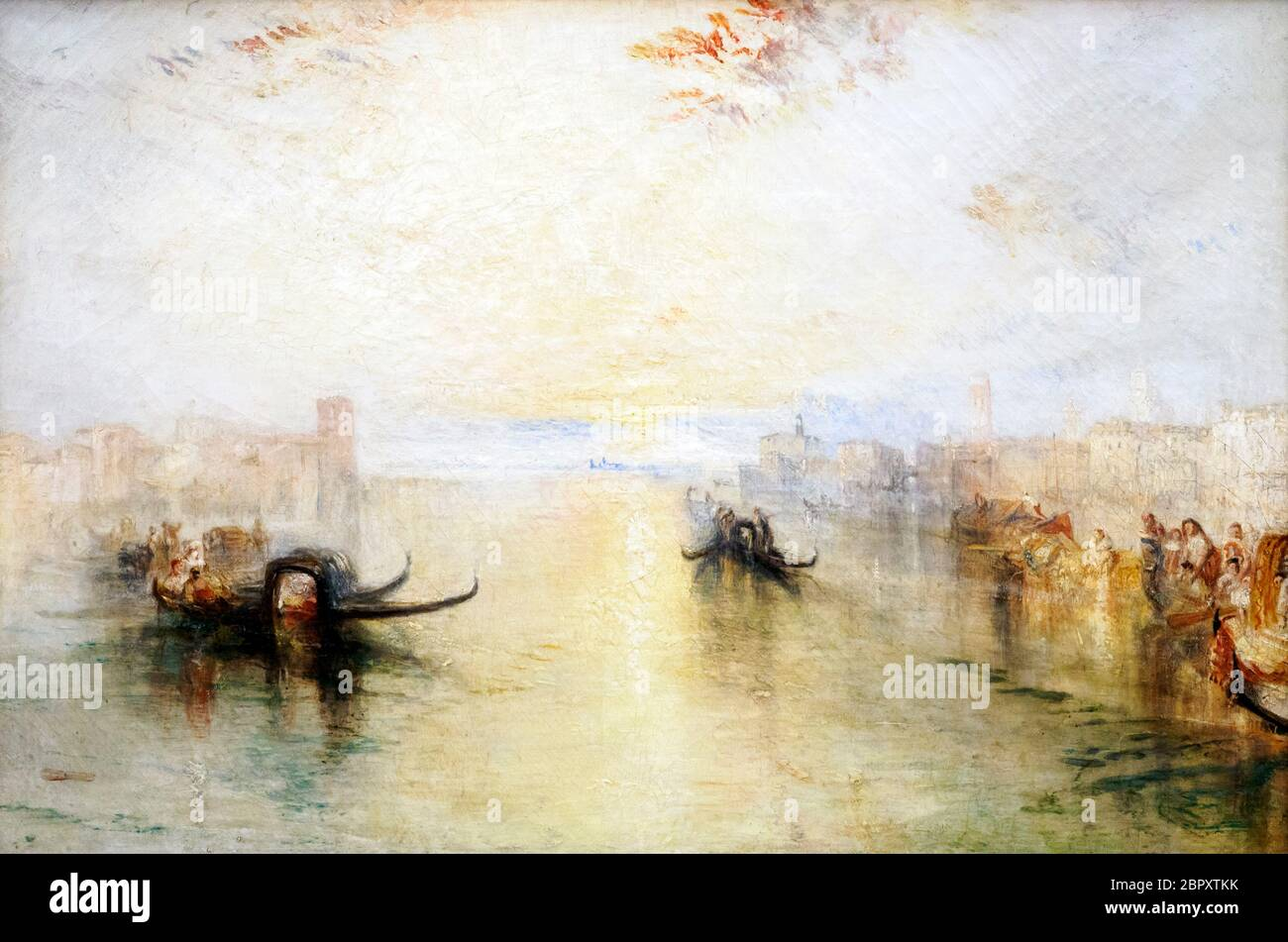 JMW Turner 1775 - 1851  St Benedetto looking towards Fusina exhibited 1842 Oil on canvas Stock Photo
