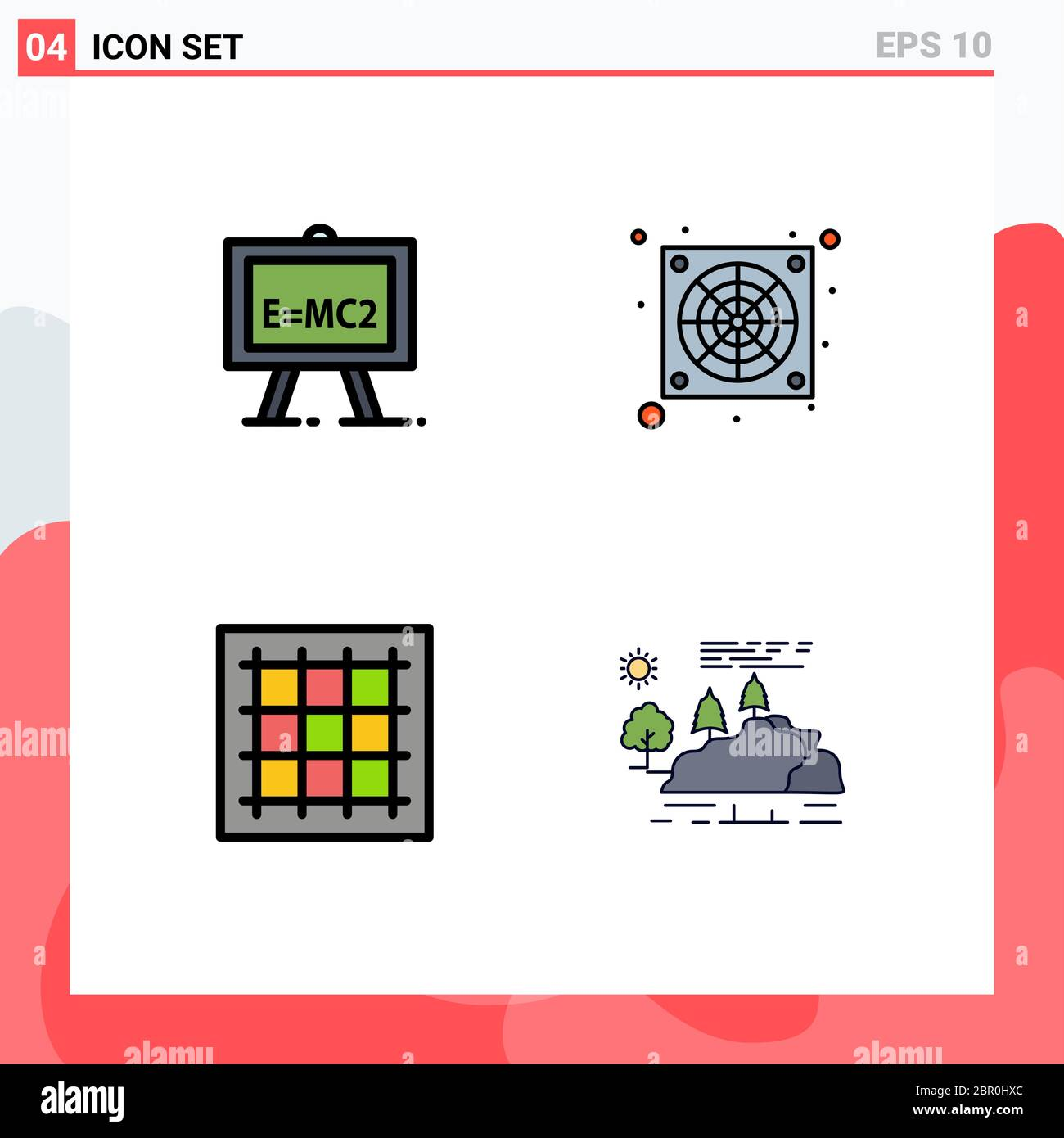 4 Universal Filledline Flat Colors Set For Web And Mobile Applications Chemistry Drawing Science Formula Fan Software Editable Vector Design Eleme Stock Vector Image Art Alamy