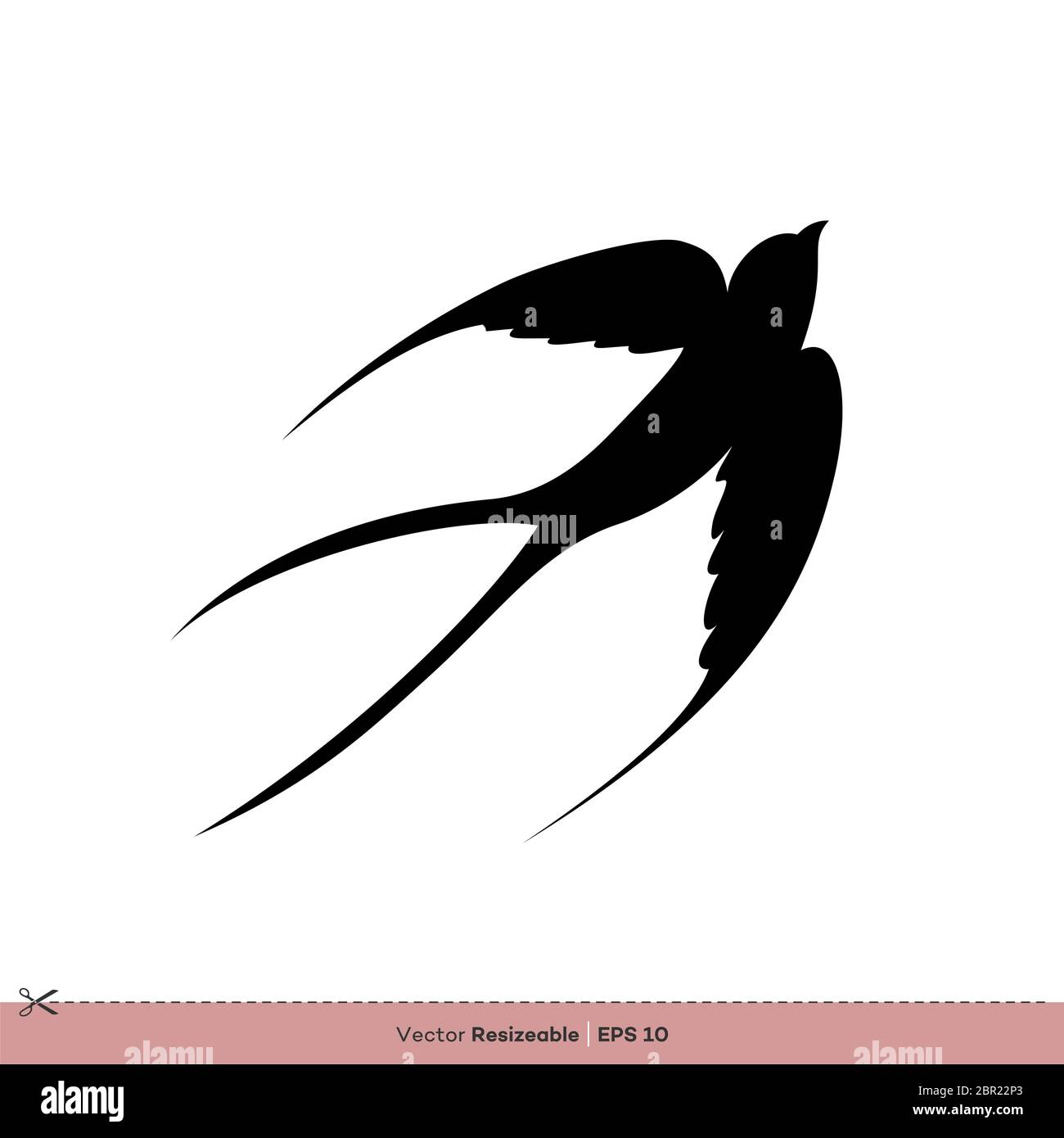 swallow bird silhouette vector logo template illustration design stock photo alamy https www alamy com swallow bird silhouette vector logo template illustration design image358390539 html