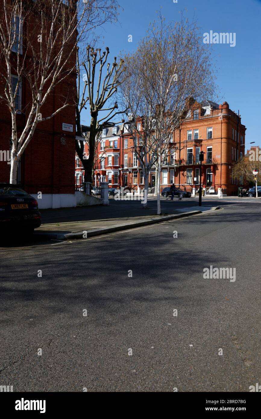 Junction of Castellain Road and Sutherland Avenue, Maida Vale, London, UK Stock Photo