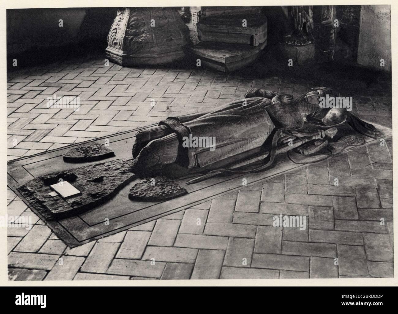 gisant.musée des unterlinder à colmar.1936. Stock Photo