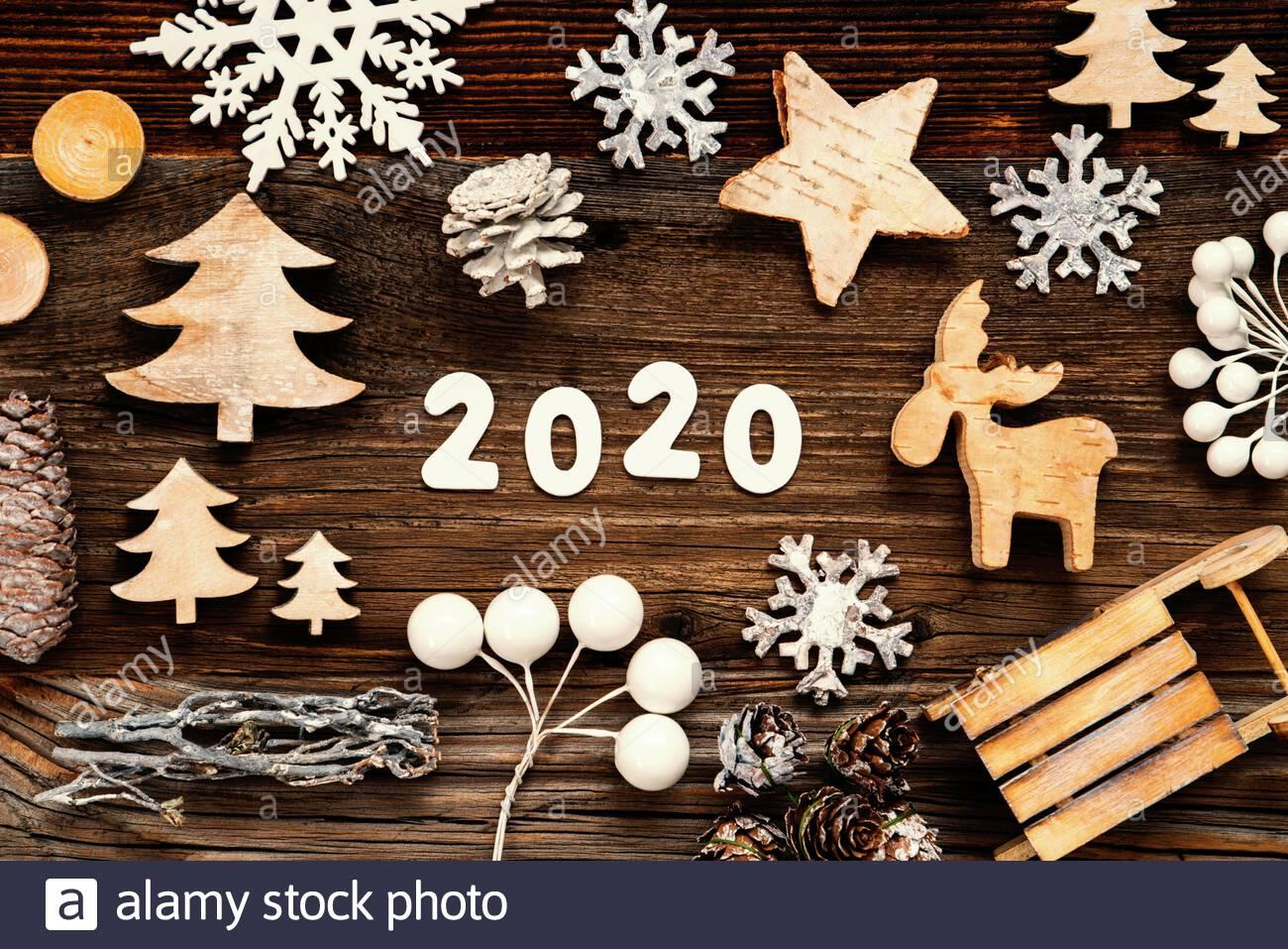 Building Christmas Decorations 2020 Letters Building The Word 2020. Wooden Christmas Decoration Like