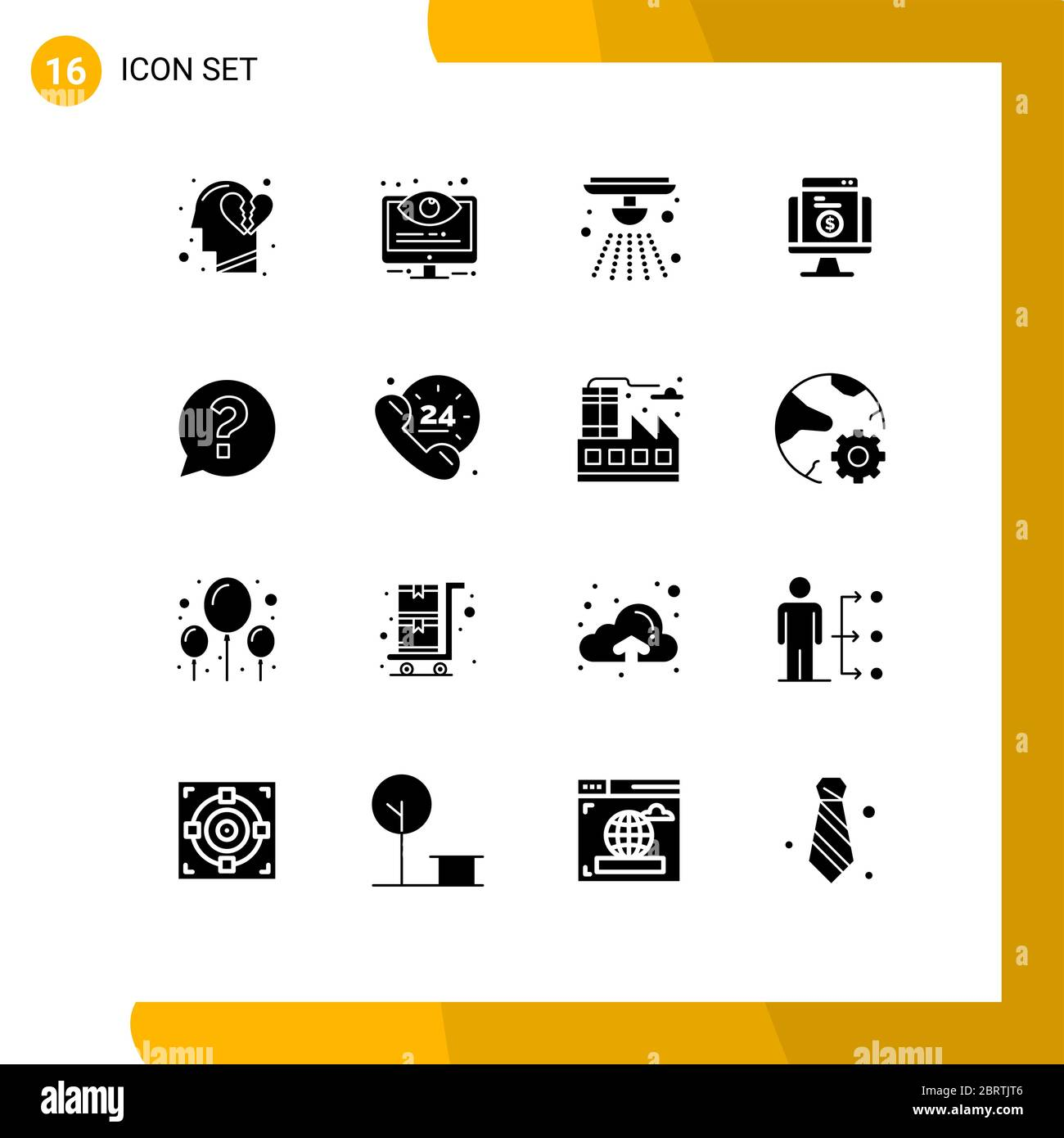 16 User Interface Solid Glyph Pack Of Modern Signs And Symbols Of Website Shopping System Online Fire Editable Vector Design Elements Stock Vector Image Art Alamy