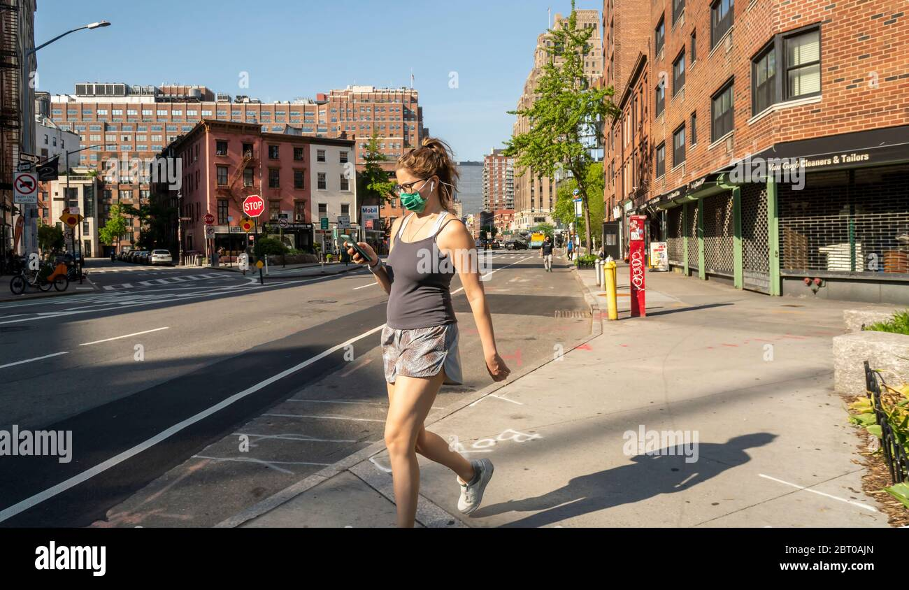 Street scenes in the Greenwich Village neighborhood in New York on Friday, May 15, 2020. (© Richard B. Levine) Stock Photo