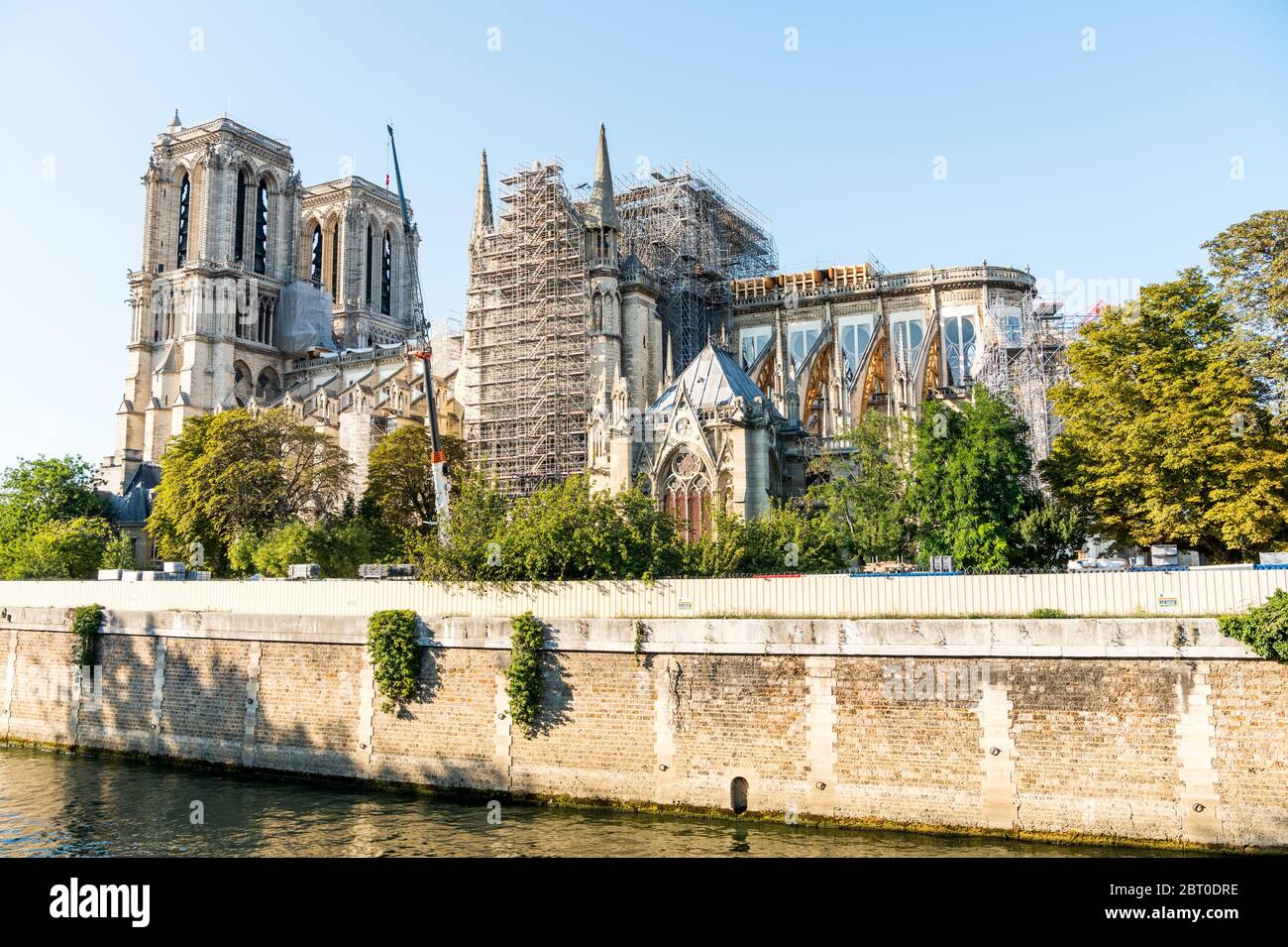 Reconstruction Of Notre Dame De Paris After The Big Fire A Medieval Catholic Cathedral On The Ile De La Cite In The 4th Arrondissement Of Paris Fran Stock Photo Alamy