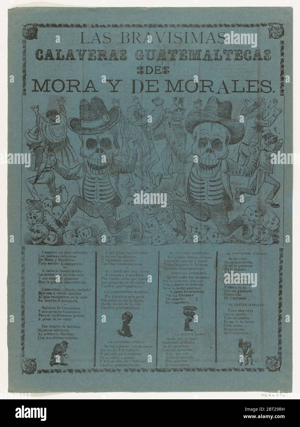 The very brave [Guatemalan] skeletons of Mora and of Morales, 1907. Stock Photo