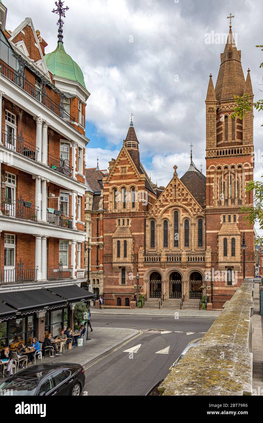 The exterior and main entrance to the Ukrainian Catholic Cathedral of the Holy Family in Exile Duke Street, Mayfair ,London W1 Stock Photo