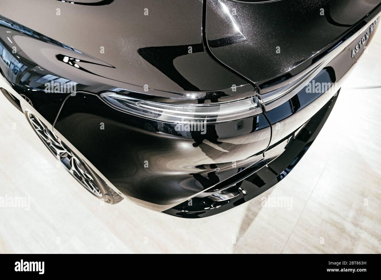 12 14 19 Summit Nj Aston Martin Lauches It S First Suv The Dbx Rear Angle Stock Photo Alamy