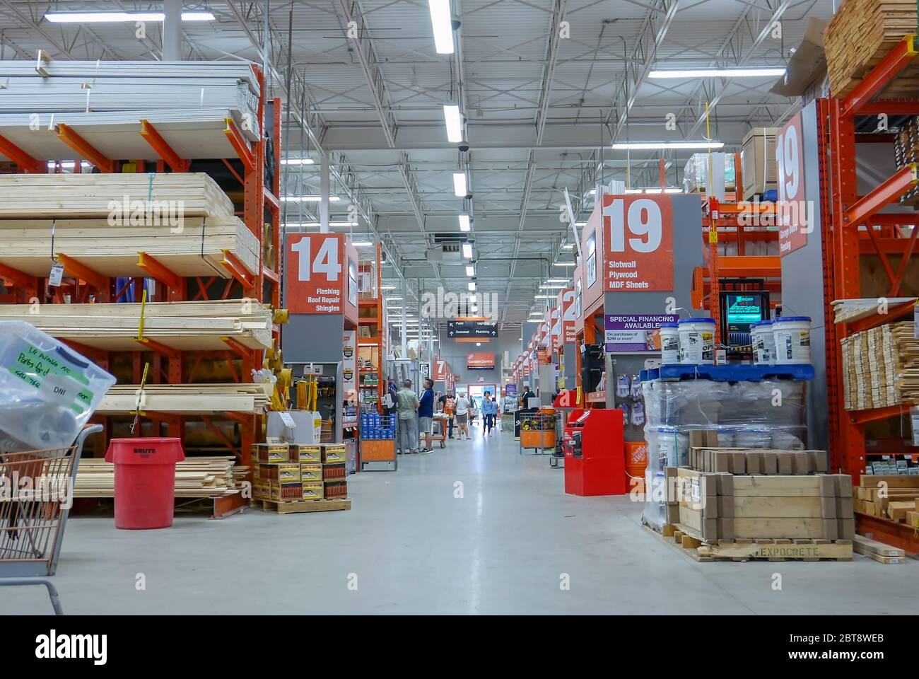Motion Of People Shopping Inside Home Depot Store Stock Photo Alamy