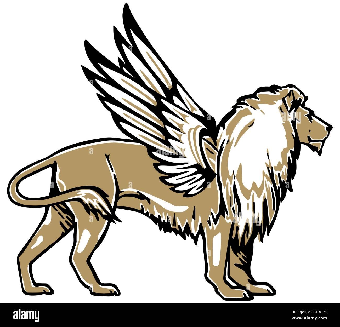 Ulle Winged Lion Clip Art at Clker.com - vector clip art online, royalty  free & public domain