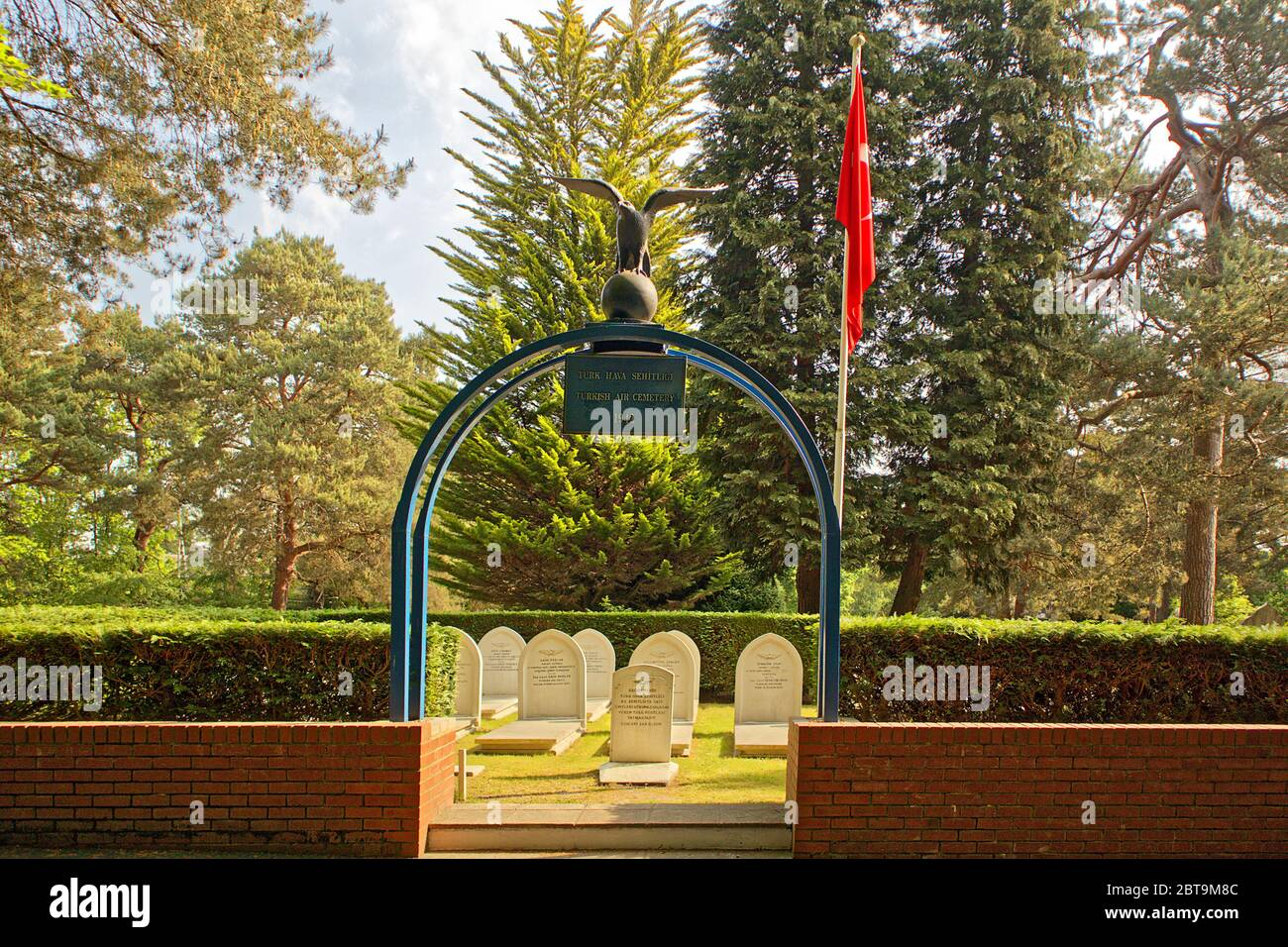 Turkish Air Forces Cemetery Plot at Brookwood Cemetery England Stock Photo