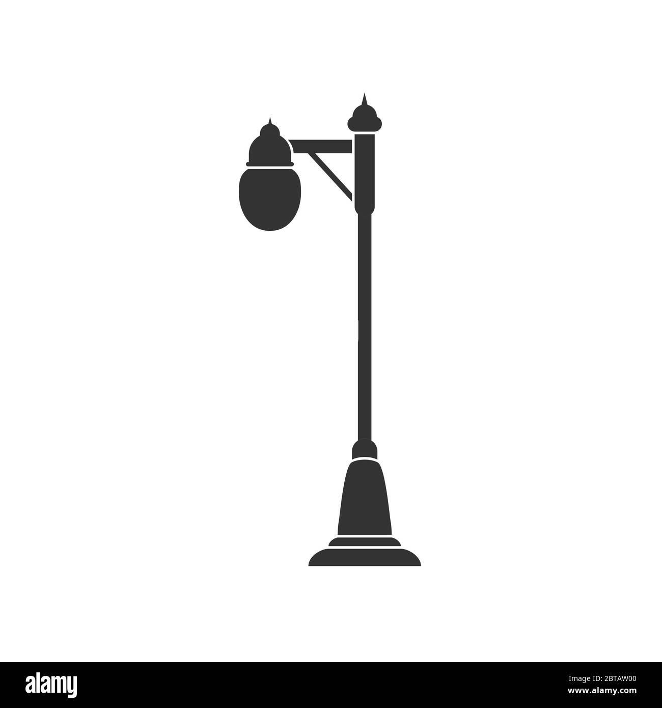 Lighting lamp with one lampshade. Vector illustration for theme design. Isolated on a white background. Simple design. Stock Vector
