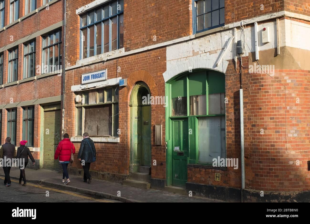 Derelict former John Froggatt premises, Vittoria Street, Birmingham Stock Photo