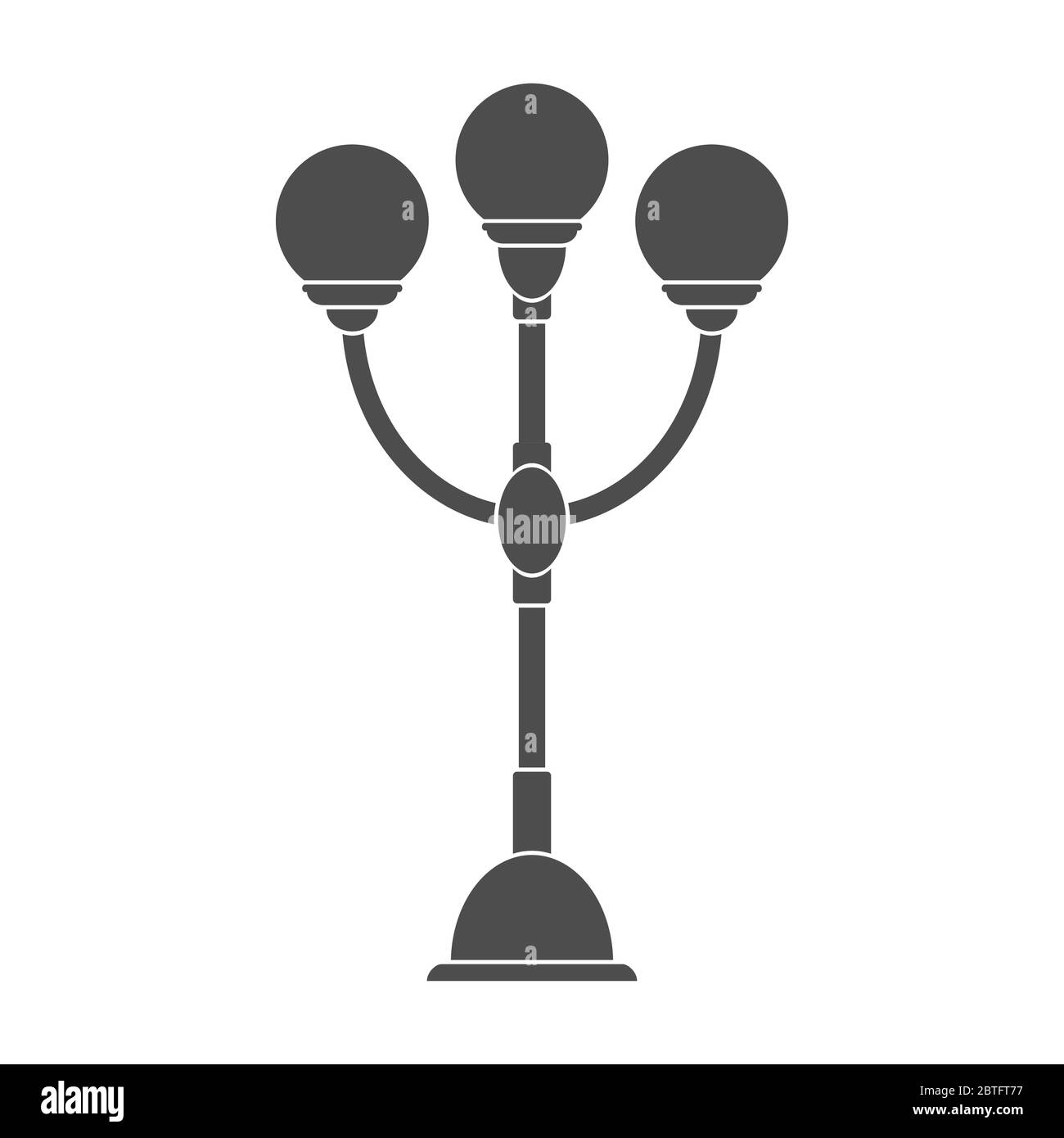 Lighting lamp with three plafonds. Vector illustration for theme design. Isolated on a white background. Simple design. Stock Vector