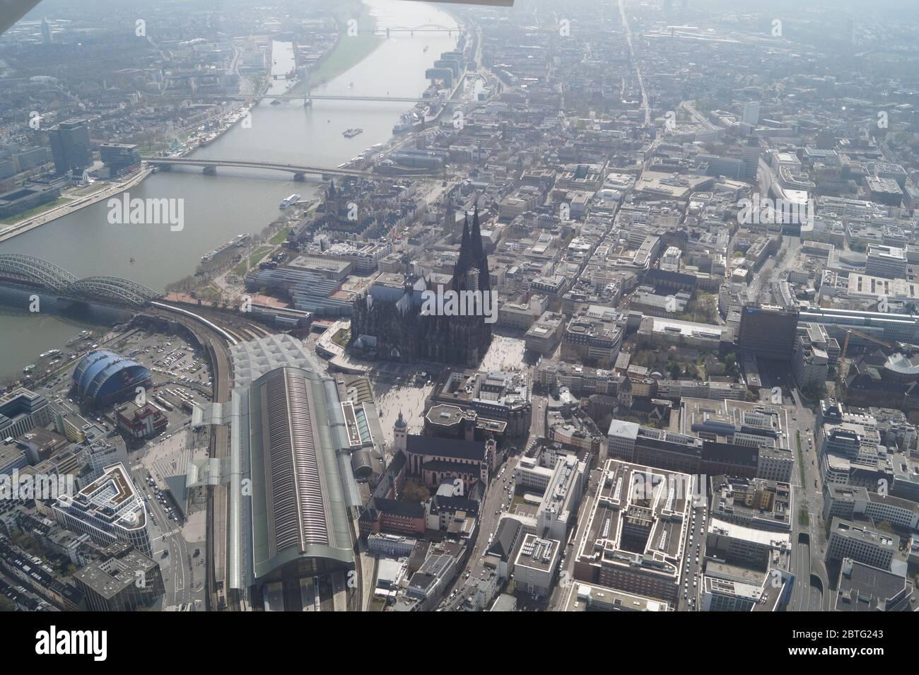 Luftbild vom Kölner Dom Aerial view Stock Photo