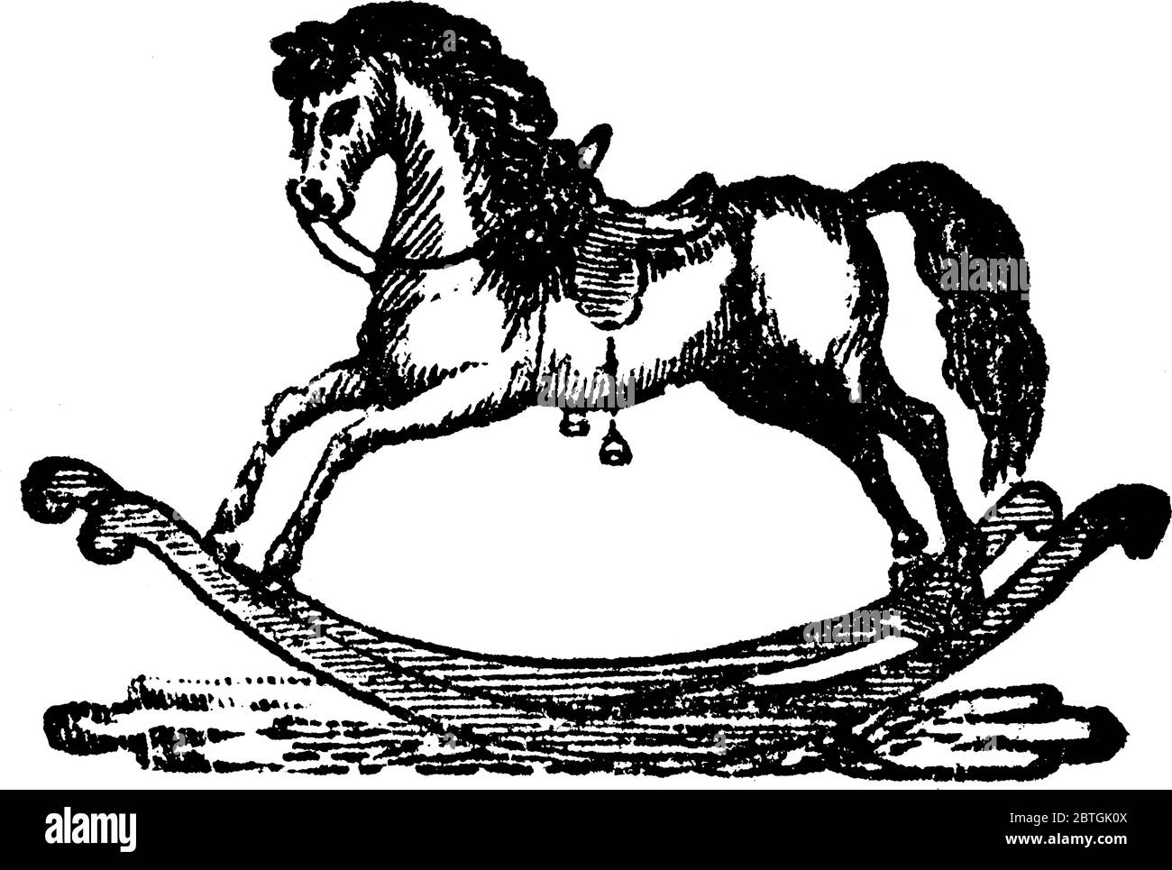 A Typical Representation Of A Toy Horse That Is Capable Of Rocking The Child Or Baby Riding It Vintage Line Drawing Or Engraving Illustration Stock Vector Image Art Alamy