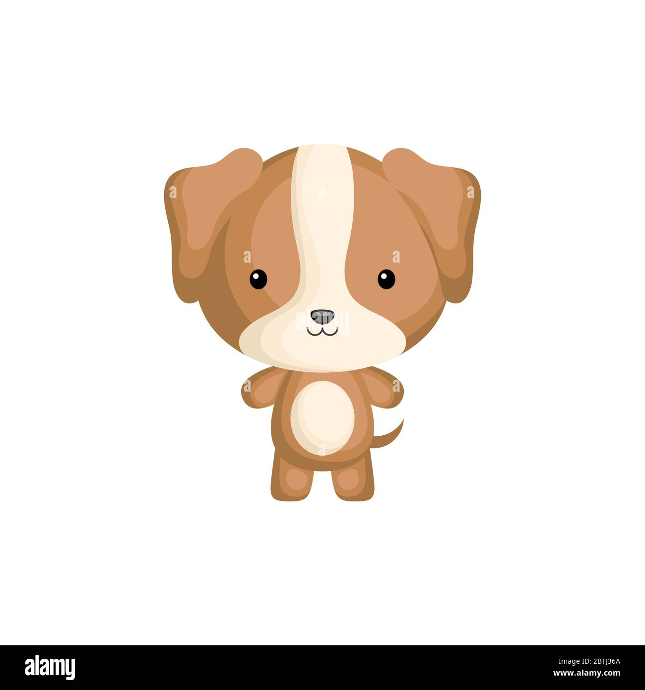 Cute Funny Baby Puppy Isolated On White Background Domestic Adorable Animal Character For Design Of Album Scrapbook Card And Invitation Stock Vector Image Art Alamy