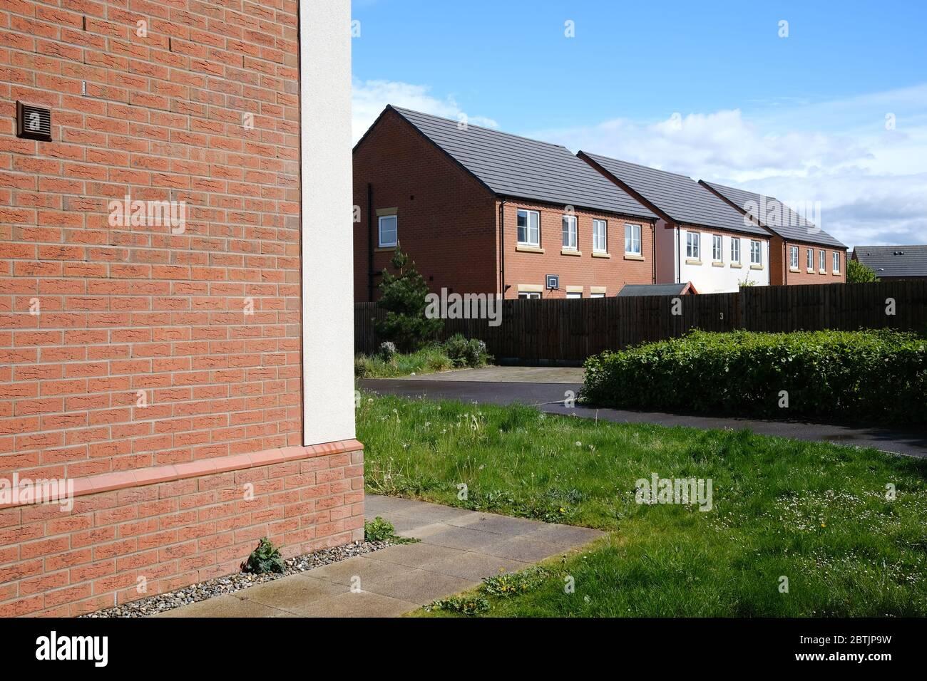 Modern housing estate Stock Photo