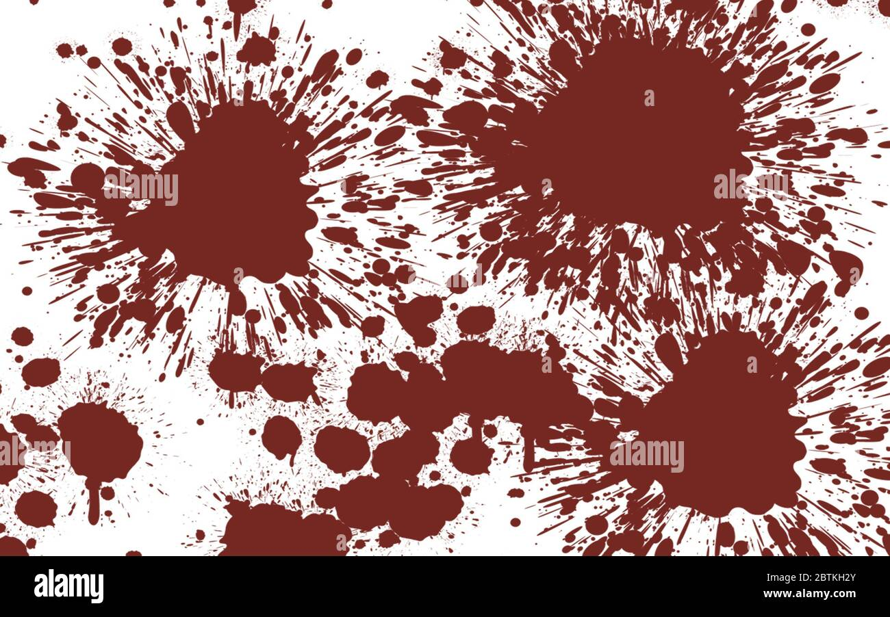 Blood Spatter Effect Wallpaper Graphic In Dark Red On White