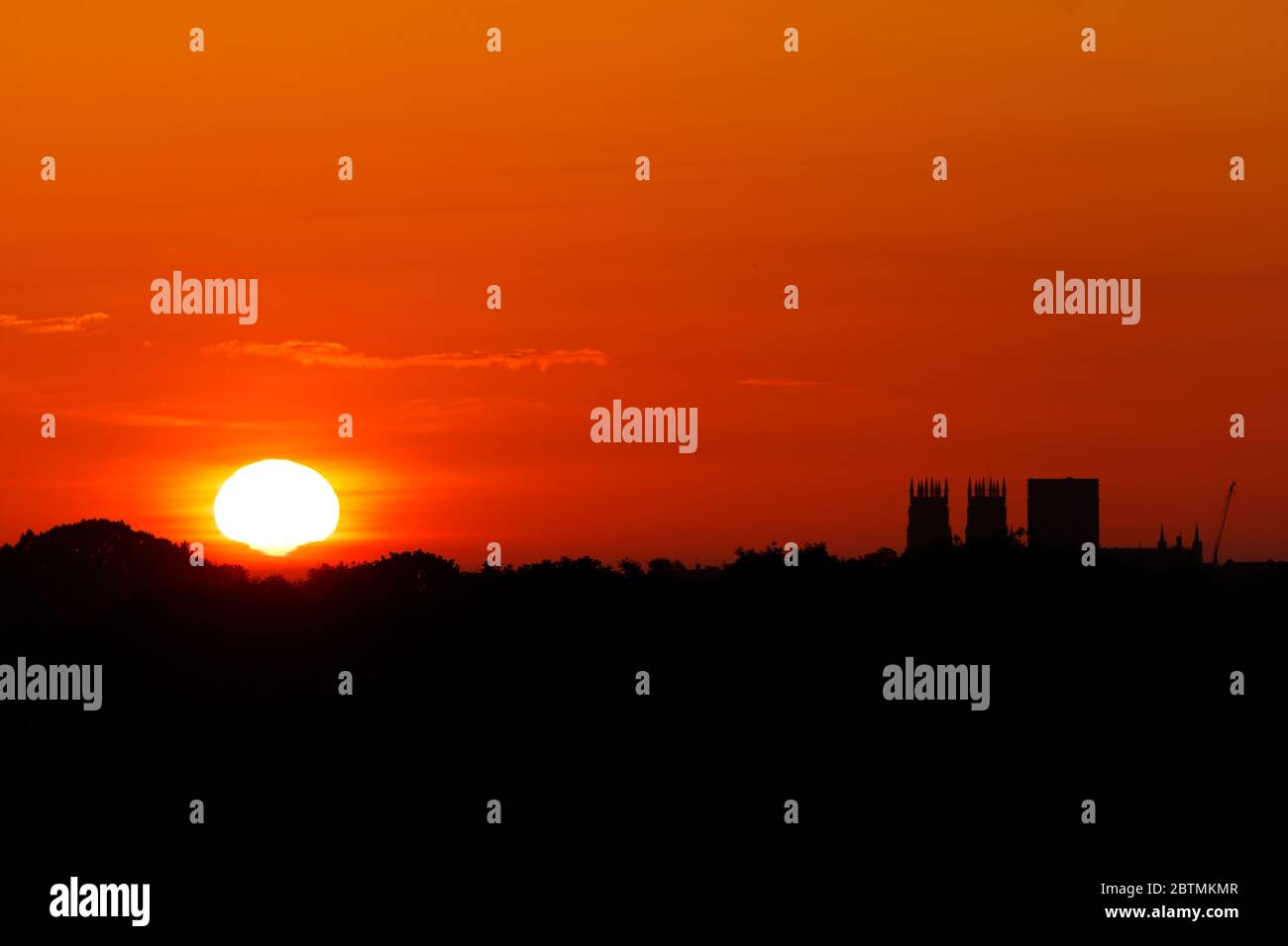 A beautiful sunrise with York Minster in North Yorkshire,UK Stock Photo