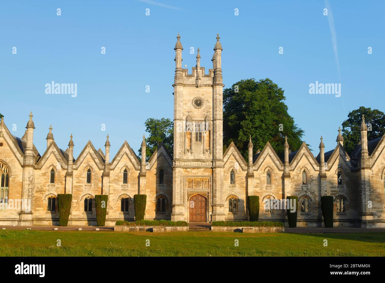 Aberford Almshouses which were built in 1844 by the Gasgoigne family, were more recently converted to offices Stock Photo