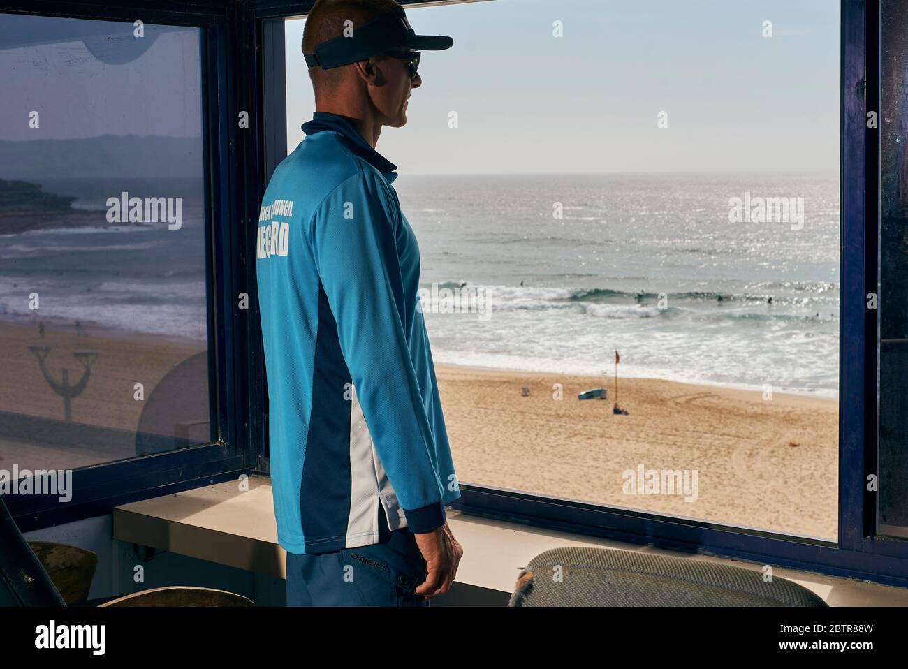 Lifeguard service at the Maroubra beach in Sydney, Australia Stock Photo
