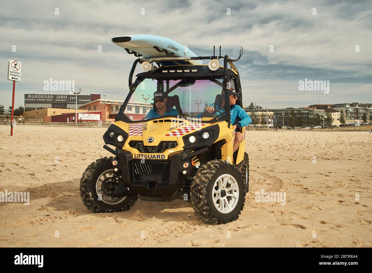 Lifeguard service at the Maroubra beach in Sydney, Australia Stock Photo
