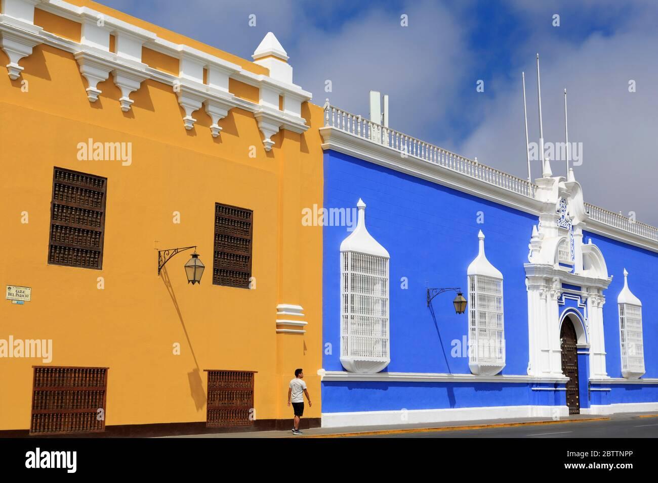 Museum of Religious Art, Plaza de Armas, Trujillo, Peru, South America Stock Photo