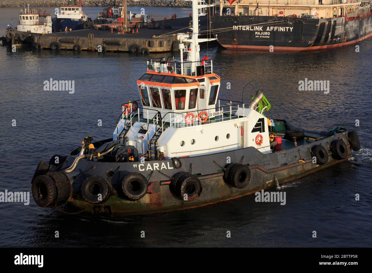Tugboat, Port of Salaverry, Peru, South America Stock Photo