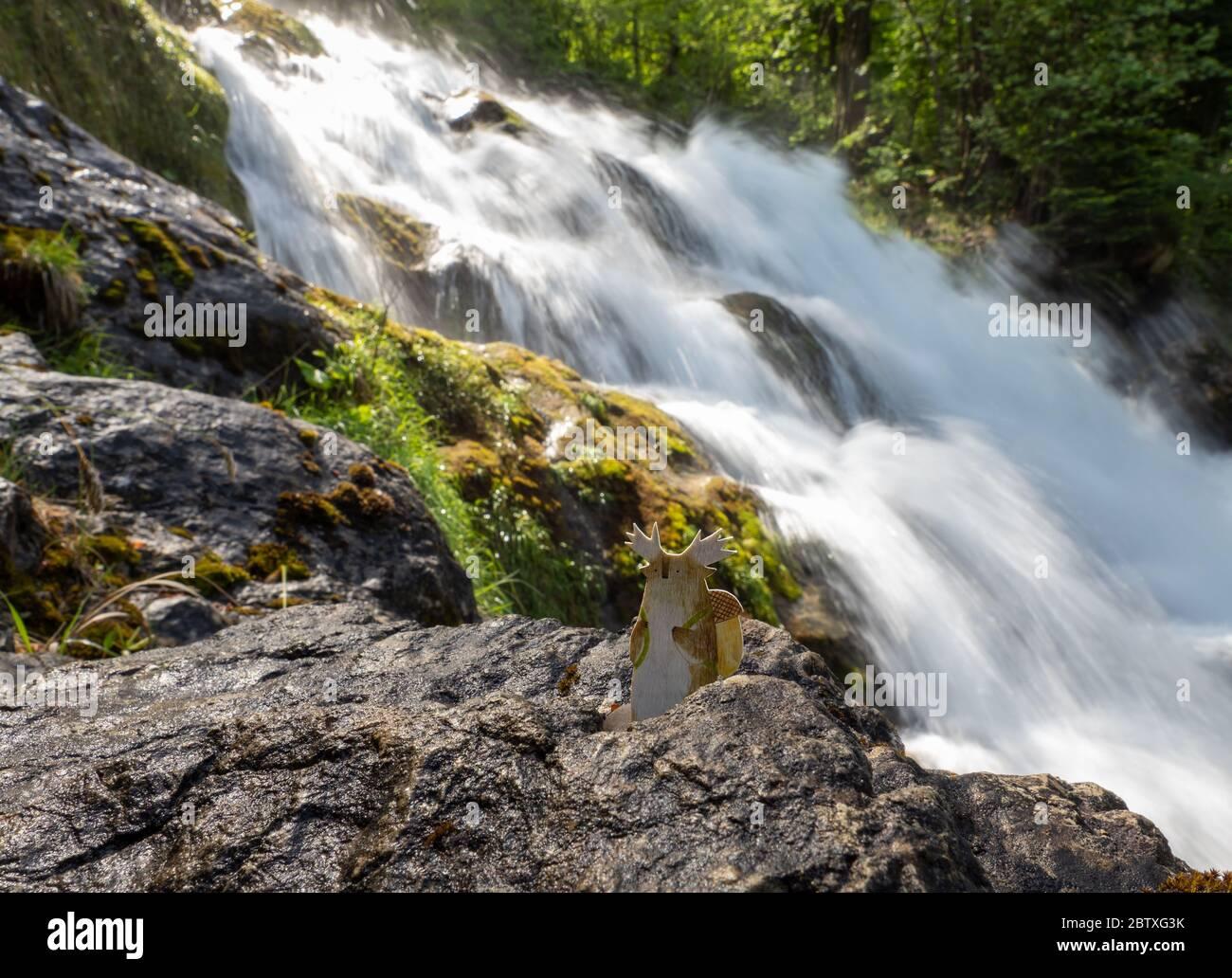 Tukoni at the Giessbach waterfalls, Switzerland Stock Photo