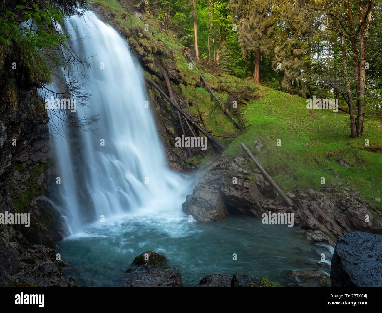 Giessbach waterfalls, Switzerland Stock Photo