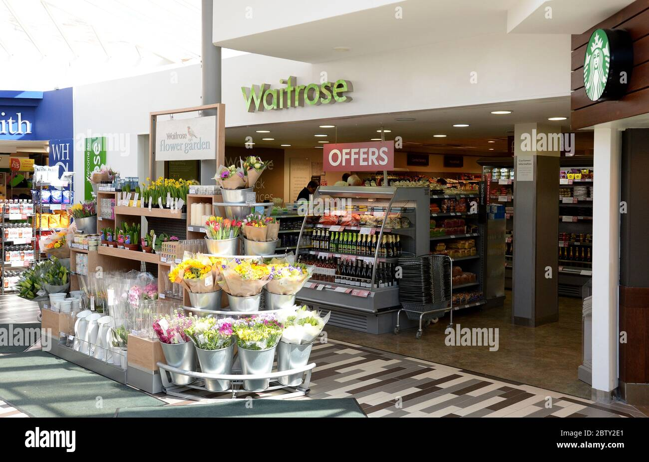 The Welcome Break motorway service station on the M40 near to Warwick. Stock Photo
